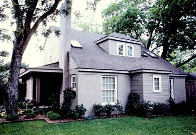 Home located near Southern Methodist University in Highland Park, Texas.
