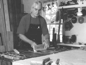 Ron Siebler working in his Dallas studio.